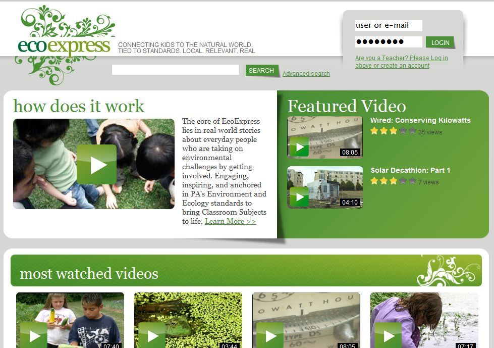 EcoExpress: Videos Tied to Standards. Local. Relevant. Real.
