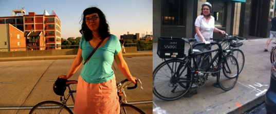 GT Staffers Meghan and Anita on their bike commutes
