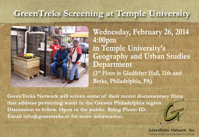 February 2014 -- GreenTreks Screening at Temple University
